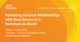 Nurturing Genuine Relationships with Your Donors in a Switched-on World Banner